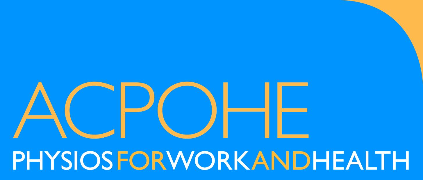 Blue and Yellow ACPOHE Logo